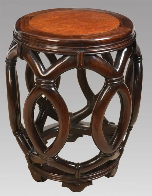 Chinese hardwood circular stool the sectional circular burr wood top over a faux bamboo superstructure on a conforming base : chinese stools wood - islam-shia.org