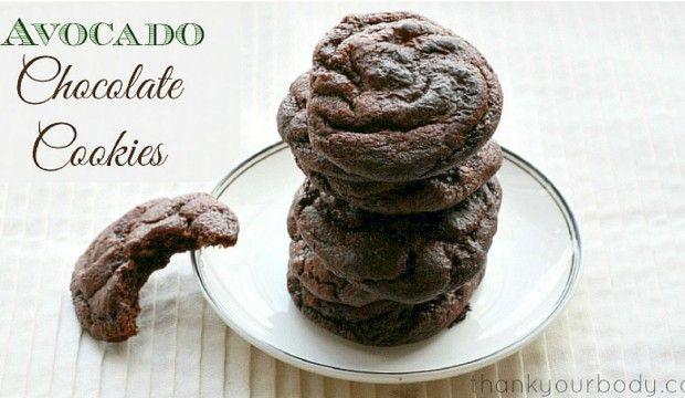 Zdravé avokádovo-čokoládové sušenky bez lepku