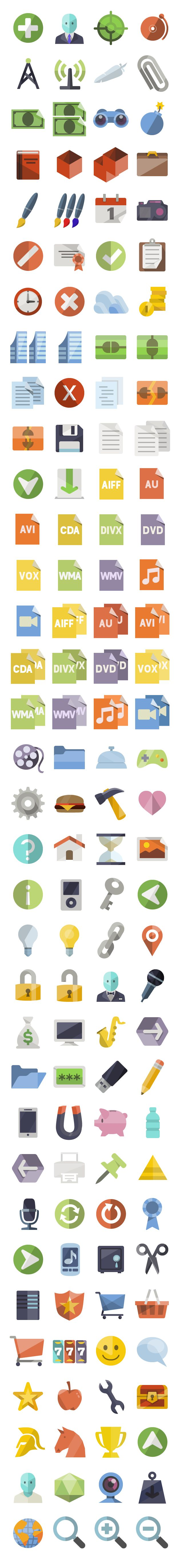flat icons addons 128px