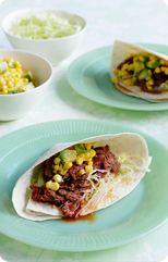 Slow cooked beef tortillas