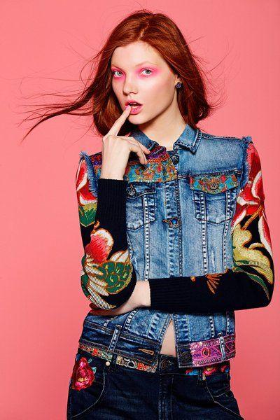 Veste en jean Desigual. Découvre la collection automne-hiver 2015 !