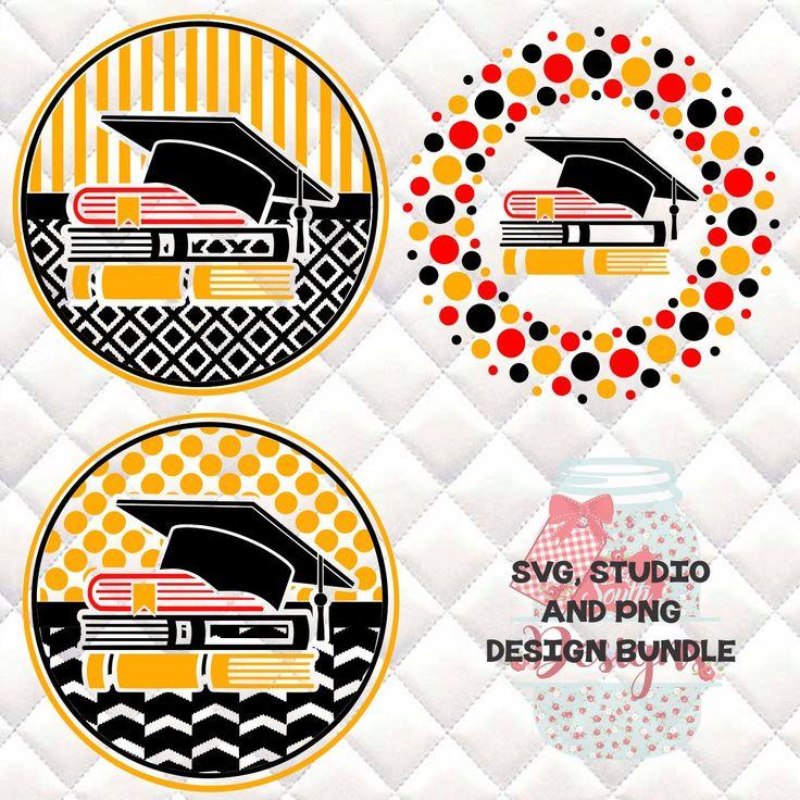 Back to School, Teacher, Graduation Cap, Books Circle Bundle - SVG, Studio, DXF and PNG file - 3 designs
