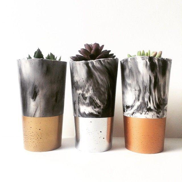 Concrete Trio - Succulent Planter Set - Urban Decor   Urban Decor   madeit.com.au