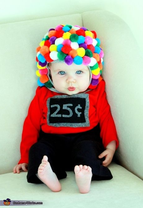 Cute baby costume ideas - Baby Gumball Machine Costume