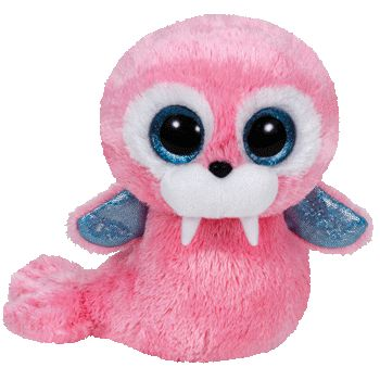"Tusk the Pink Walrus - 6"" - Ty Beanie Boo's"