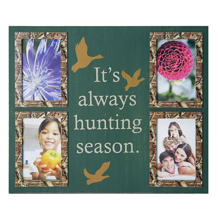 Mossy Oak 4-Opening ''Always Hunting Season'' Collage Frame, Multicolor