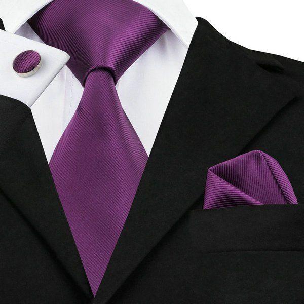 Pocket Square - Woven Jacquard silk in solid mauve Notch Q2Bqn2u