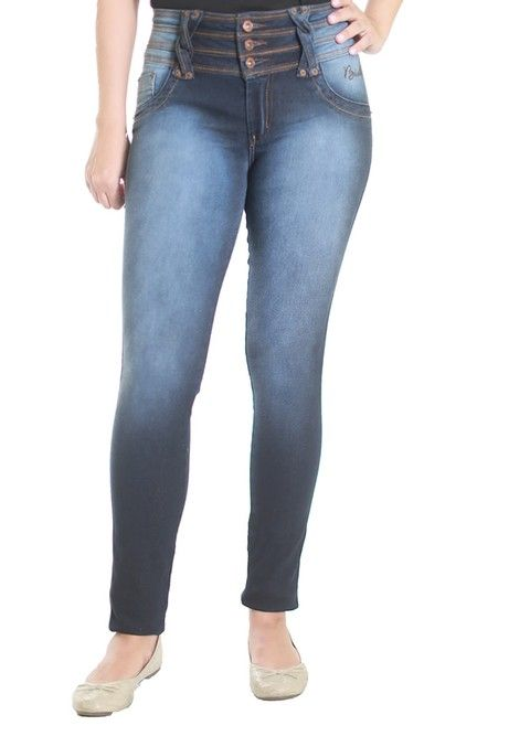 Calça Jeans Bivik Feminina Cós Alto