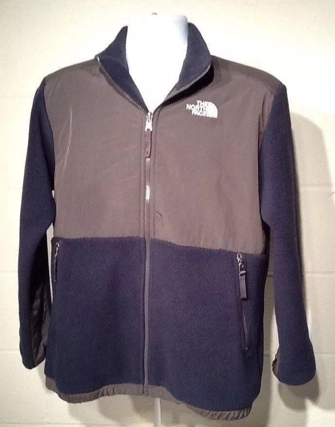 b74ac1afc The North Face Boys XL Denali Fleece Full Zip Jacket Polartec Navy ...