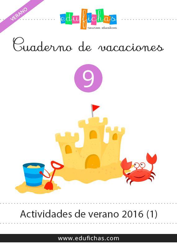 cuaderno de verano 2016. Con actividades infantiles de temática veraniega. De 3 a 5 años.  Descargar aquí:  http://www.edufichas.com/descargas/cuadernillos/vacaciones/verano/cuaderno-verano-2016-1/  #summer #preschool #preescolar #verano #cuadernos #vacaciones