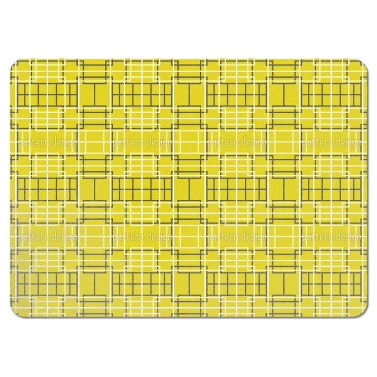 Uneekee Asian Lattice Yellow Placemats (Set of 4) (Asian Lattice Yellow Placemat) (Polyester)