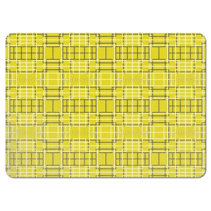 Uneekee Asian Lattice Yellow Placemats (Set of 4) (Asian Lattice Yellow Placemat) (Polyester)