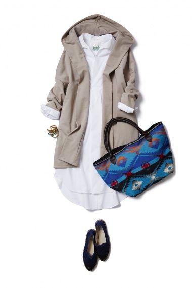 まずはアウターから衣替え!着流しフードカーディガンの春コーデ ― B-ファッションコーディネート通販 ビストロ フラワーズ トウキョウ