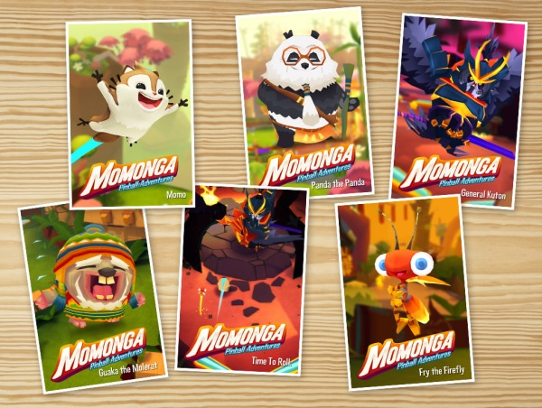 Our new business cards. Now you know you want to meet one of us. #Momonga #MomongaPinballAdventures #Paladinstudios