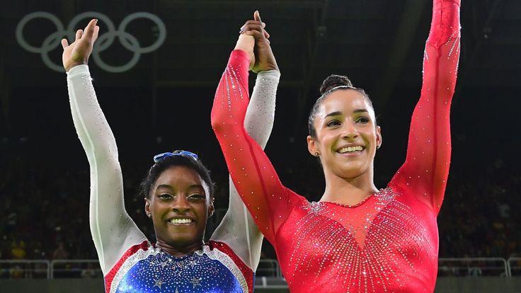 Simone Biles, Aly Raisman go 1-2 in gymnastics all-around - ESPN.com 20160811