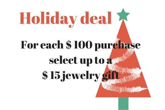 Free jewel, jewelry gift for purchase, holiday deal, Christmas offer by ColorLatinoJewelry on Etsy