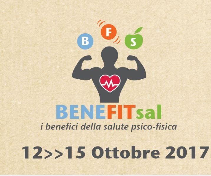 -UNICA FIERA per il SUD ITALIA- BENEFITsal è il nome della fiera del benessere(BENE), del fitness(FIT) e della salute(SAL): il nome racchiude il senso di comunicare i benefici della salute psico-fisica, core business del Salone. L'evento si svolge dal 12 al 15 Ottobre 2017 nel Centro Fiere di Lecce e raccoglie espositori, eventi collaterali, workshops, convegni e concorsi, secondo un concetto di fiera attiva e ricca di contenuti.