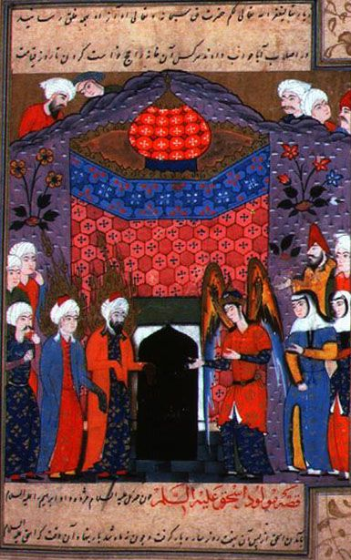 08 - Ismael and his father Abraham pray after building the Ka'aba.jpg