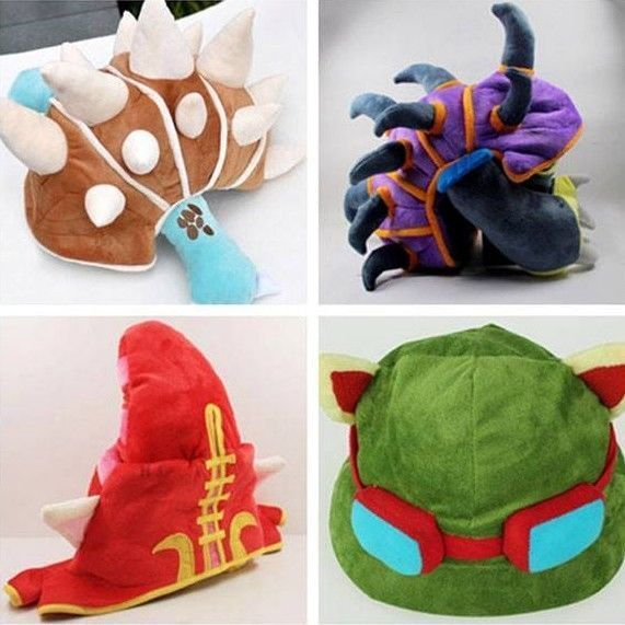New LOL Hat Teemo,Lulu,Rammus,Ninja Rammus,League of Legends Plush Cosplay Cap