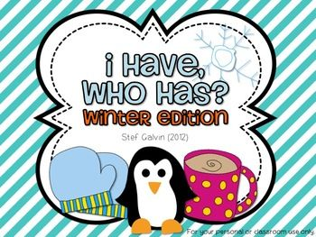 I Have, Who Has? Winter Edition (Numbers)