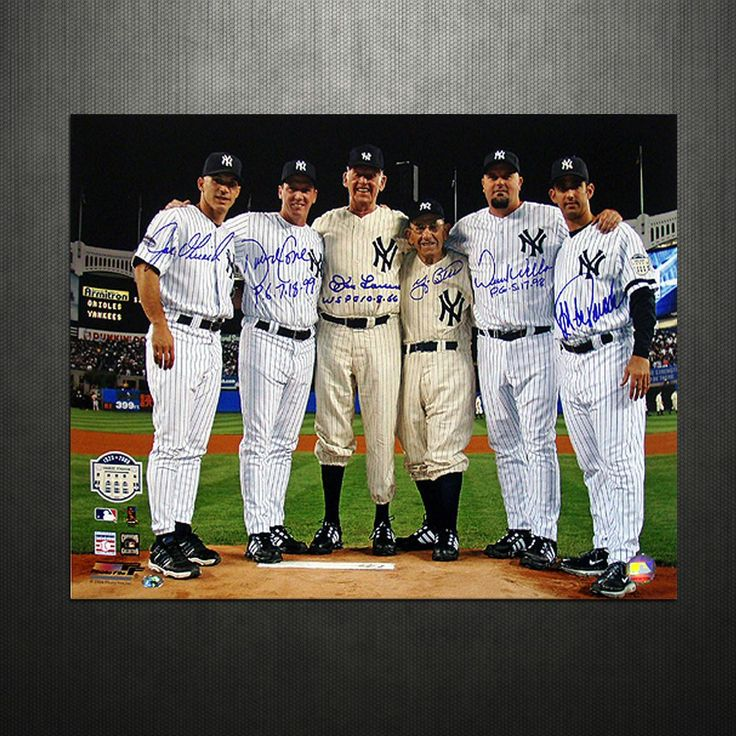 Yankees Final Game at Yankee Stadium Perfect Game Battery Mates w PG Insc. 16x20 Photo (MLB Auth)