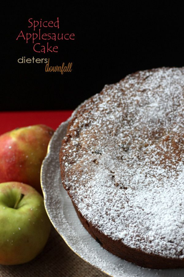 Spiced Applesauce Cake filled with Apples, Pecans, and Raisins and ...