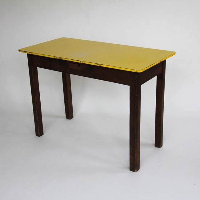 yellow formica kitchen table interior exterior
