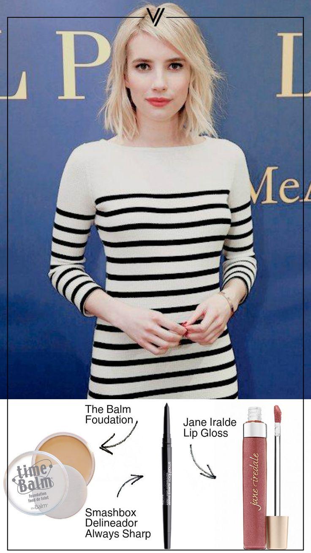 Consigue el maquillaje a Emma Roberts  #EmmaRoberts #Labios #Delineador