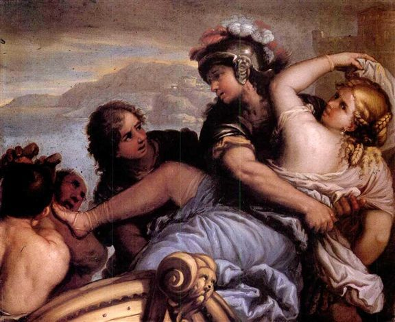 THE RAPE OF HELEN by Luca Giordano: