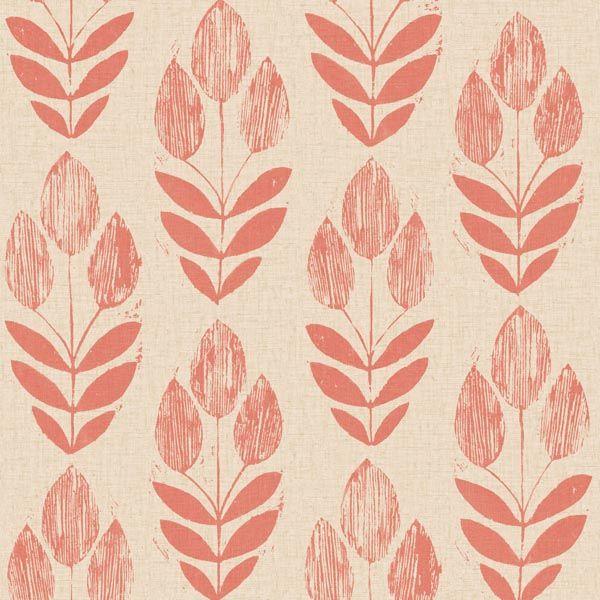 2535-20653 Red Block Print Tulip - Scandinavian - Simple Space 2 Wallpaper By…