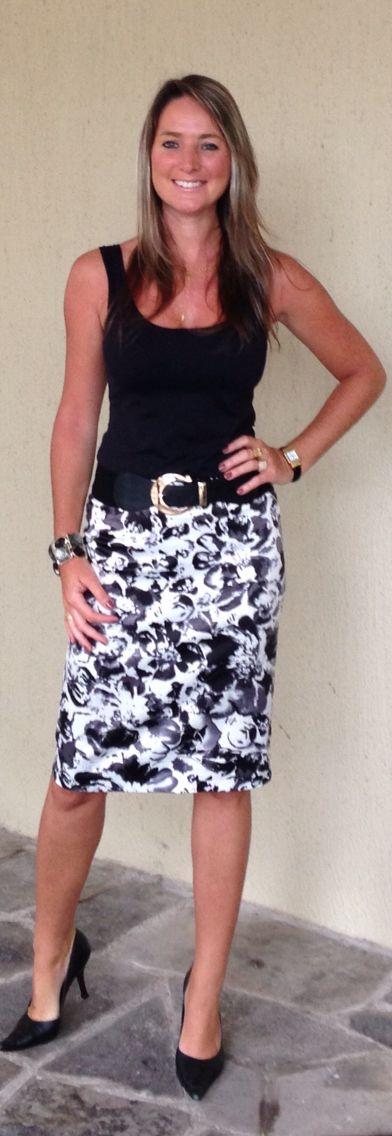 Look de trabalho - look do dia - look preto e branco - look black and white - p&b - bw