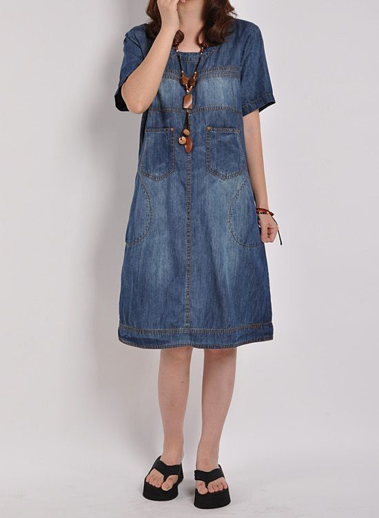 Denim dress Denim shirt maxi dress short by originalstyleshop, $55.00