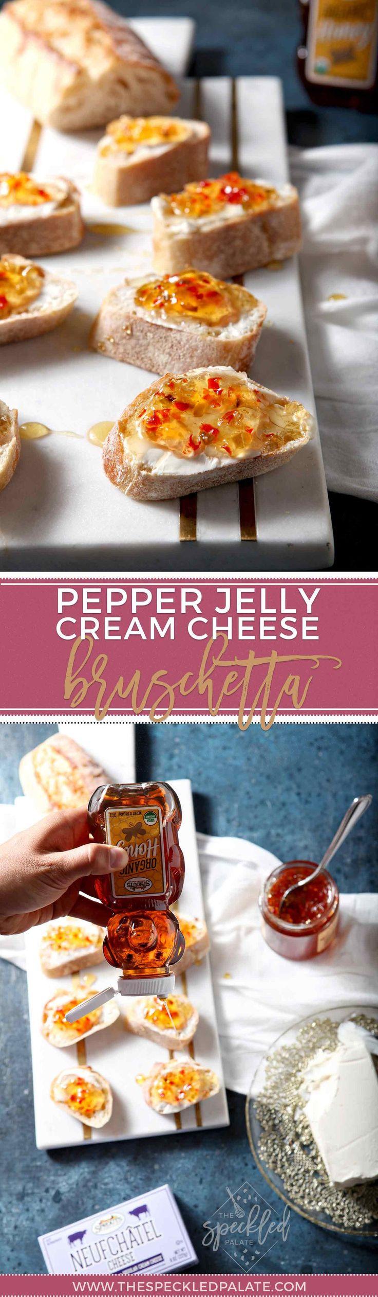 AD   Bruschetta Recipe   Sweet and Spicy Recipe   Appetizer Recipe   Easy Appetizer   Pepper Jelly Recipe   Easy Bruschetta