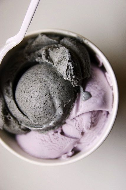 TARO & BLACK SESAME ICE CREAM [plating idea, image only]