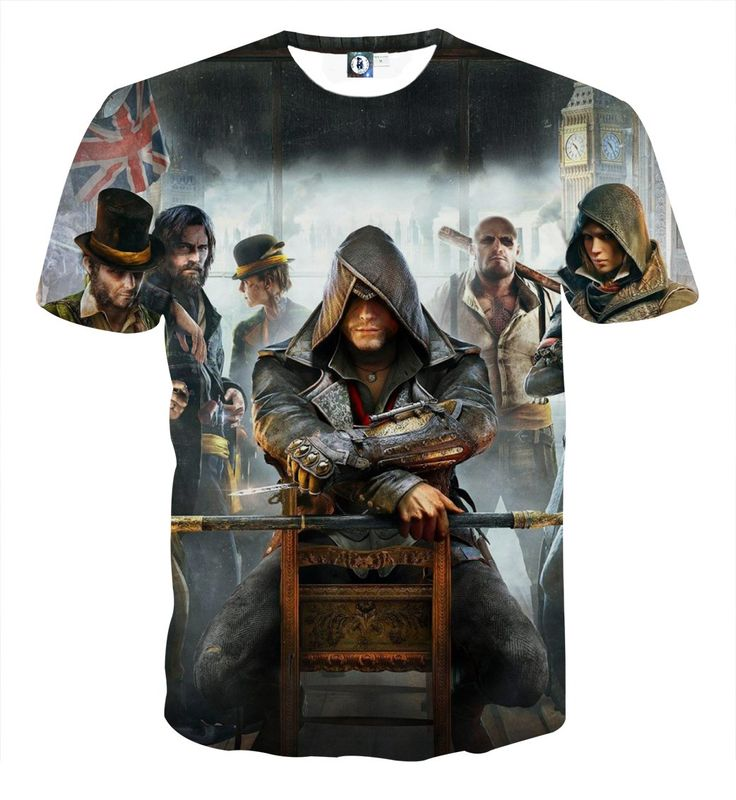 Assassin's Creed Syndicate Jacob And The Templars Print T-shirt    #Assassin'sCreed #Syndicate #Jacob #And #TheTemplars #Print #T-shirt