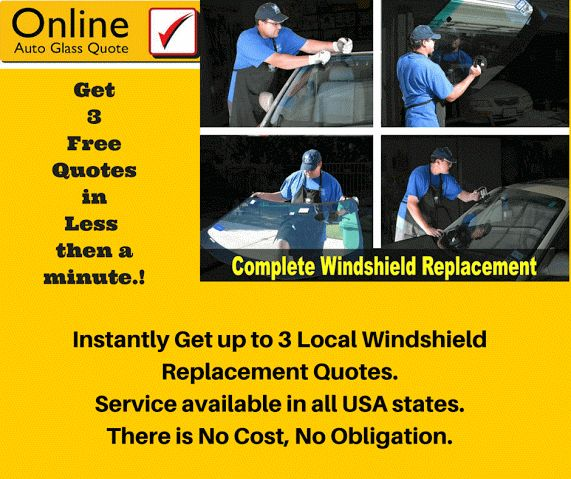 Check your local windshield replacement cost for free NOW.