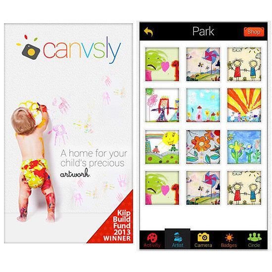 Canvsly stores your children's artwork online. | 21 Amazing Parenting Apps That Will Make Your Life Easier