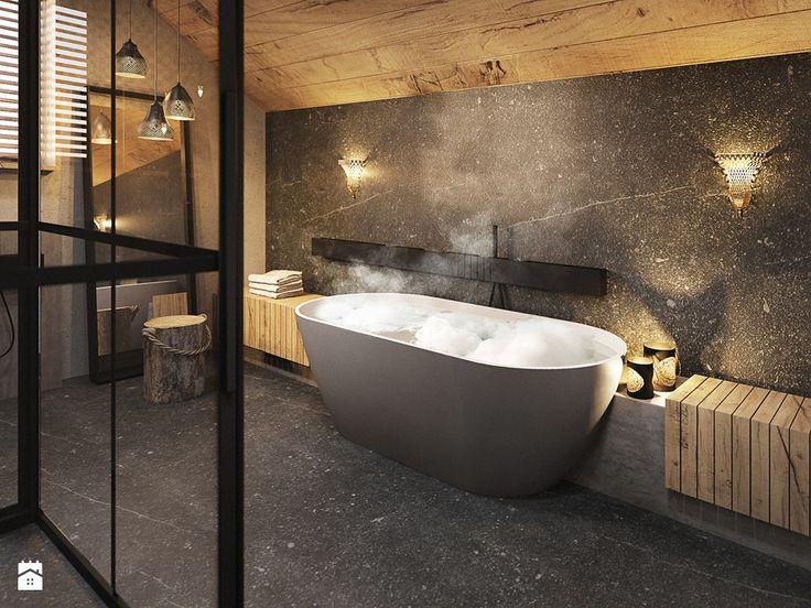 Bielsko - Biała - Duża łazienka na poddaszu, styl nowoczesny - zdjęcie od razoo-architekci