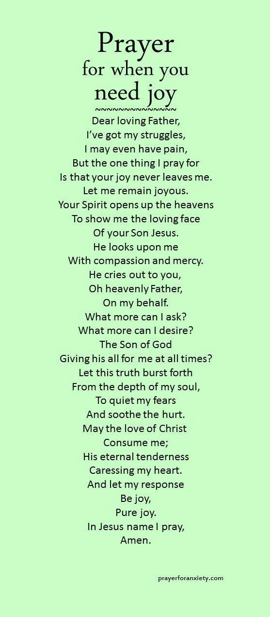 Prayer for When You Need Joy
