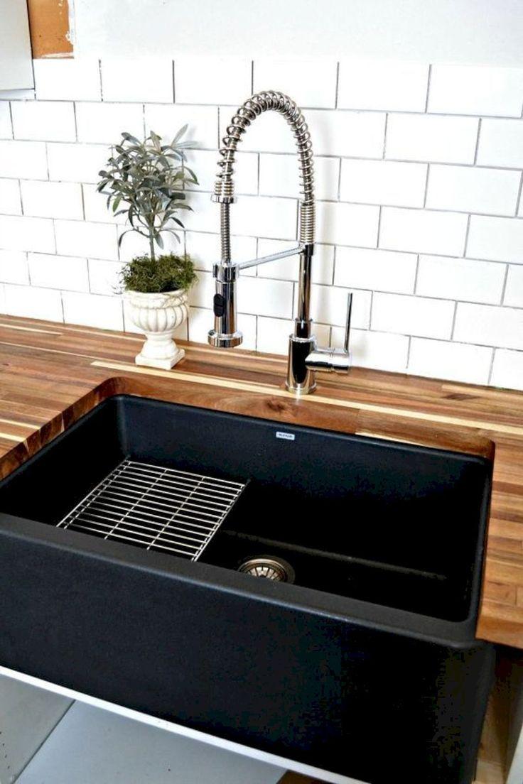 Pin By Jill Whelan On Kitchen Ideas Black Farmhouse Sink