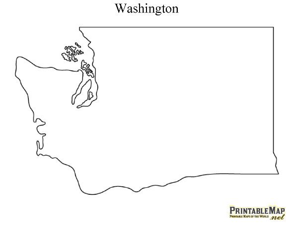 Witty image within printable map of washington state