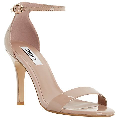 Buy Dune Hydro Two Part Ankle Strap Patent Sandals, Blush Online at johnlewis.comwanttt