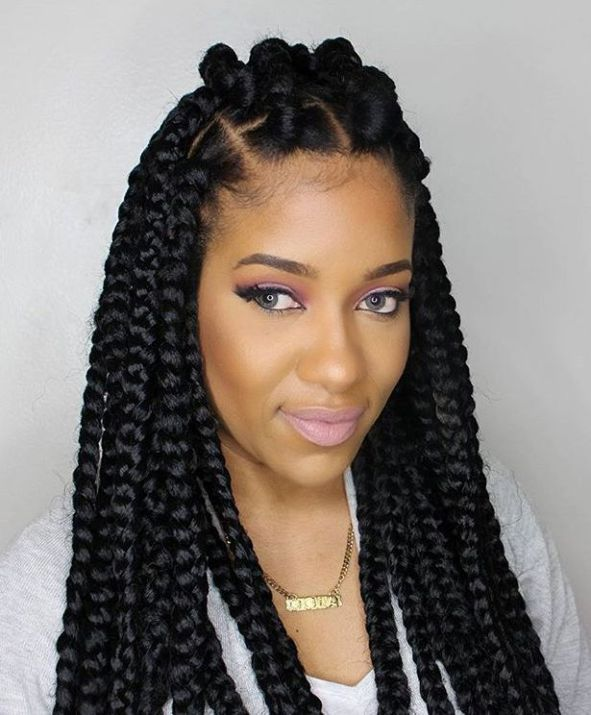 70 Best Black Braided Hairstyles That Turn Heads Braids With Extensions Box Braids Hairstyles Box Braids Styling