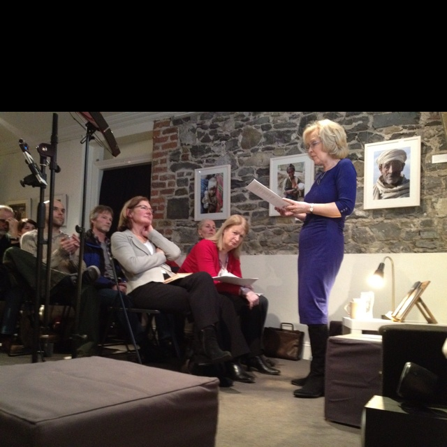 Mary O'Donnell reading in CFCP as part of the trinity to Szymborska organised by Monika Sapielak of ArtPolonia and CFCP