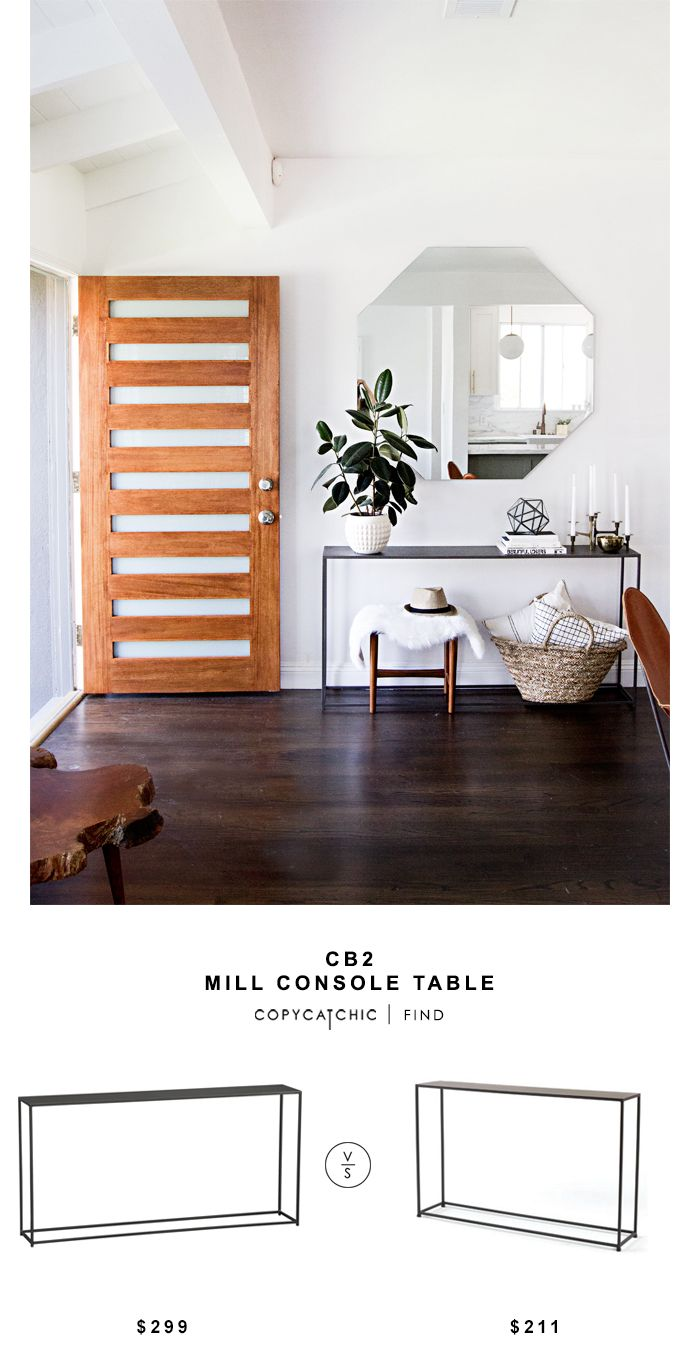 CB2 Mill Console Table for $299 vs Tag Furnishings Group Urban Narrow Console Table $211 Copy Cat Chic luxe living budget home decor & design look for less http://www.copycatchic.com/2016/12/cb2-mill-console-table.html?utm_campaign=coschedule&utm_source=pinterest&utm_medium=Copy%20Cat%20Chic&utm_content=CB2%20Mill%20Console%20Table