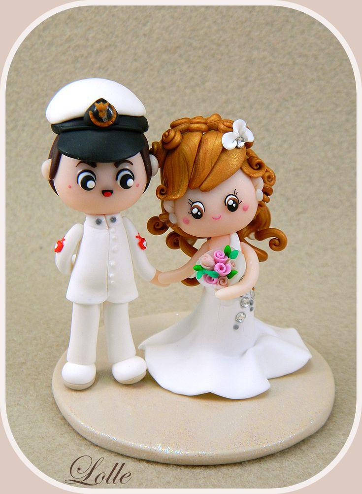 Wedding cake topper by ~LolleBijoux on deviantART  CUTE!