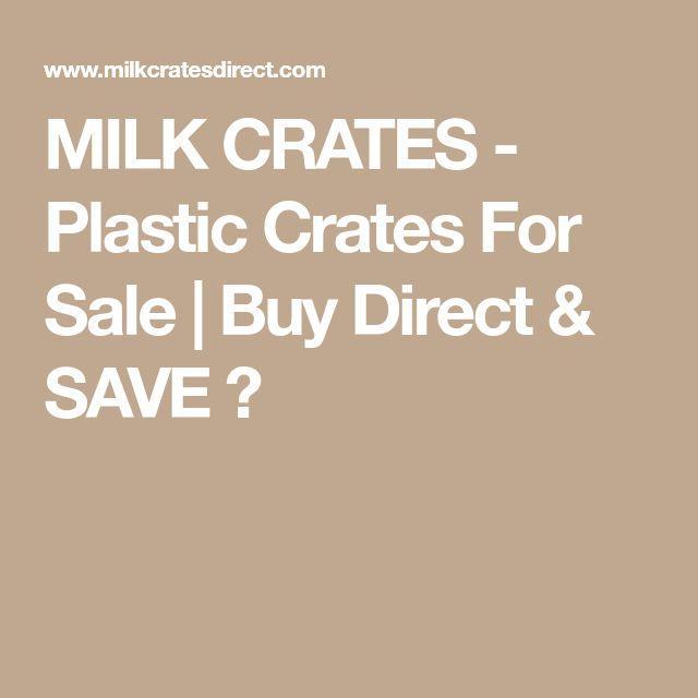 MILK CRATES - Plastic Crates For Sale | Buy Direct & SAVE ✅