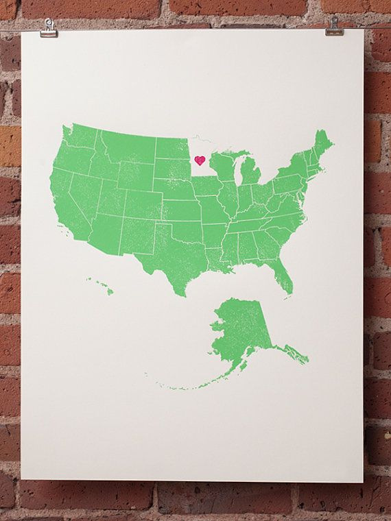 ♥Sweets Home, Contemporary Artworks, Graphics Prints, Cute Ideas, Minnesota Love, My Heart, Maps Room, Heart Maps, Heart Mn