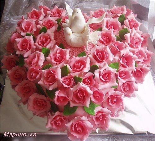 Торты свадебные в кемерово вкусные красивые