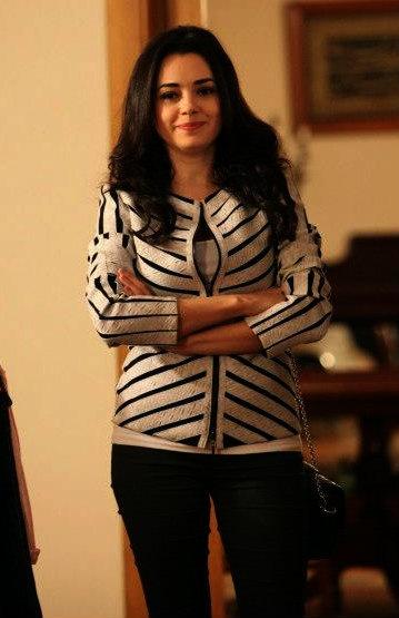 """Özgü Namal in #AdolfoDominguez Jacket.  - """"Merhamet"""" TV Series 2013/2014"""